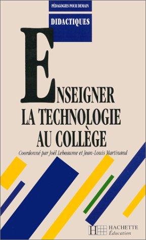 9782011705273: Enseigner la technologie au collège