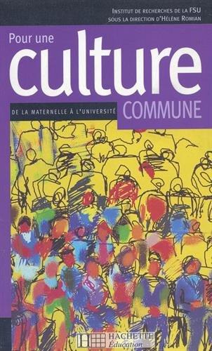 Pour une culture commune: Institut de recherches de la FSU