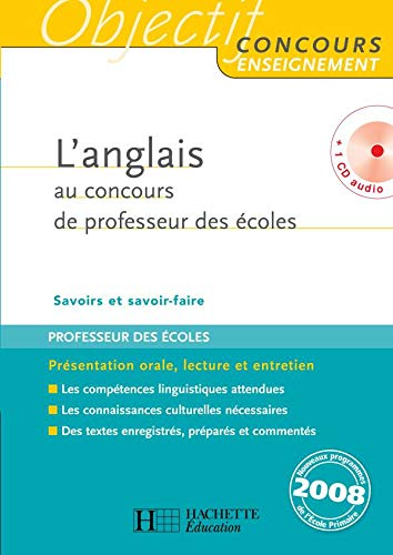 9782011711090: L'anglais au concours de professeur des écoles (1CD audio)