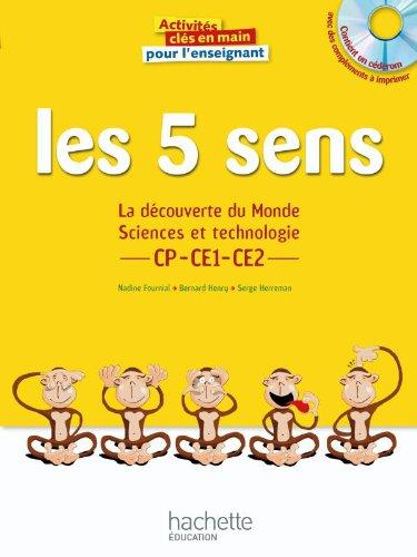 9782011711854: Les 5 sens : La découverte du Monde, Sciences et technologie CP-CE1-CE2
