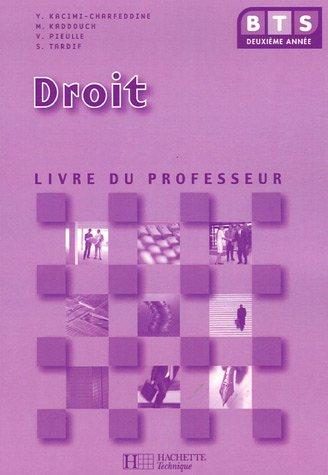 9782011803436: BTS 2e Année Droit : Livre du professeur