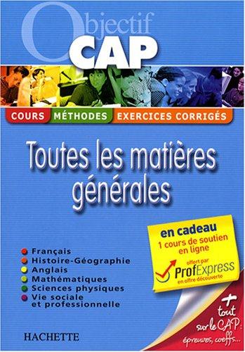 9782011807007: Toutes les matières générales