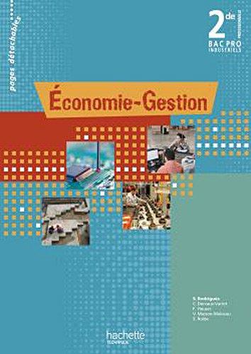 9782011811158: Economie-Gestion 2de Bac Pro - Livre élève - Ed.2010