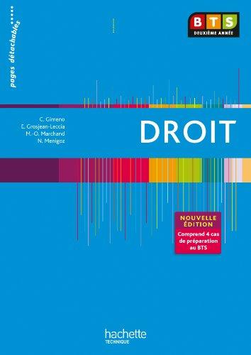 9782011811684: EN SITUATION DROIT BTS 2e ANNEE - Livre élève - Ed. 2013