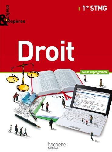 9782011815170: Enjeux et Repères Droit 1re STMG - Livre élève Grand format - Ed. 2012