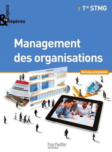 9782011815217: Enjeux et Repères Management des organisations 1re STMG - Livre élève Gand format - Ed. 2012