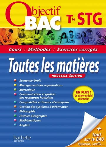 objectif bac terminale STG: HACHETTE EDUCATION