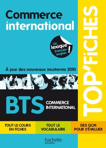 9782011816740: Top Fiches Bts Commerce International