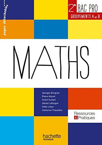 9782011821058: Ressources et pratiques Maths 2de Bac Pro Industriel (A et B) - Livre élève - Ed.2013