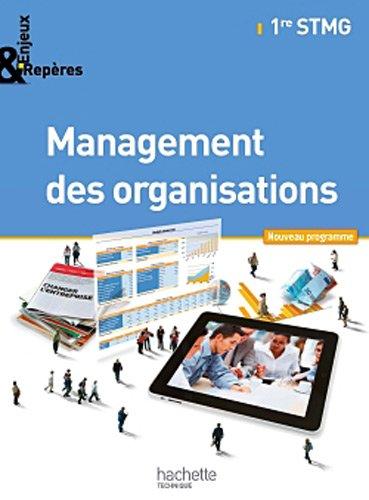 9782011821348: Enjeux et Repères Management des organisations 1re STMG - Livre élève Format compact - Ed. 2012
