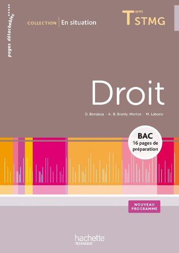 9782011821591: En situation Droit Terminale STMG - Livre �l�ve - Ed. 2013