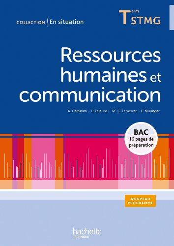 9782011824042: Ressources humaines et communication Terminale STMG - Livre élève - Ed.2013