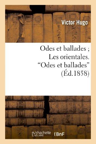 """9782011855046: Odes et ballades ; Les orientales. """"Odes et ballades"""""""