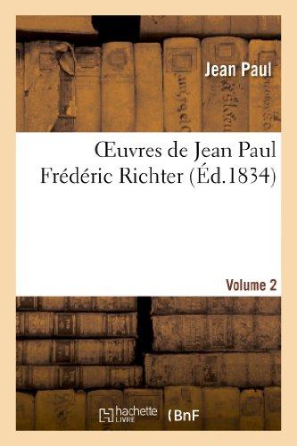 9782011855404: Oeuvres de Jean Paul Fr�d�ric Richter.Volume 2: Titan