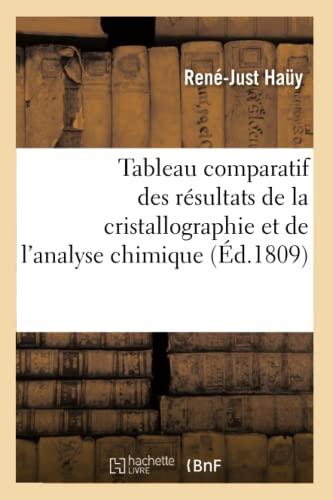 9782012159105: Tableau comparatif des r�sultats de la cristallographie et de l'analyse chimique
