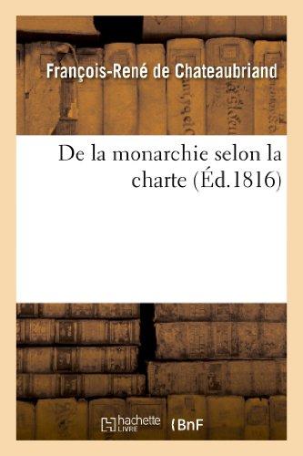 9782012178960: De la monarchie selon la charte