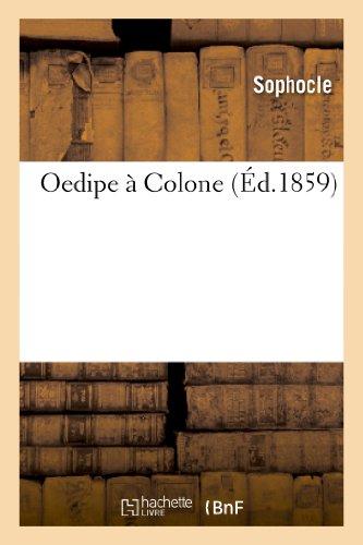 9782012179295: Oedipe à Colone