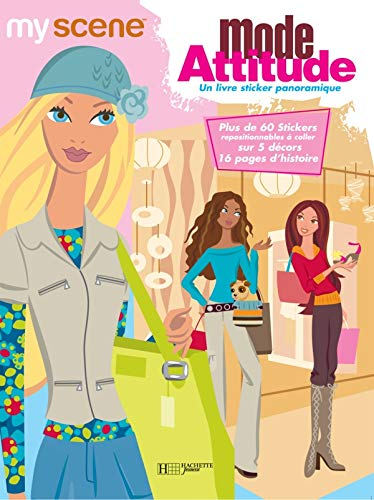 9782012257658: Mode Attitude : Un livre sticker panoramique (Barbie)