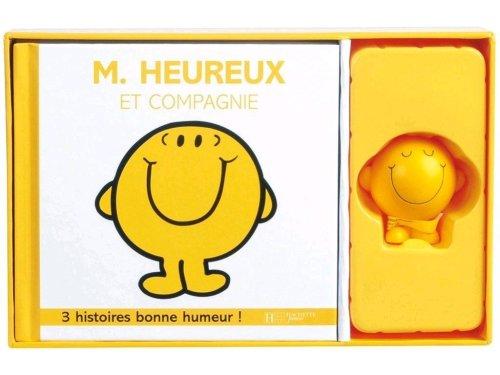 9782012261006: 100% Bonne Humeur - M. Heureux Et Compagnie - Coffret Livre + Figurine (Monsieur Madame)