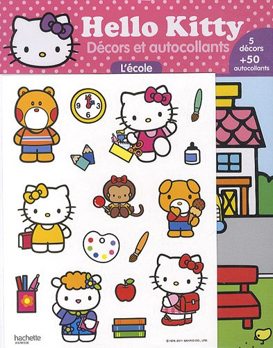 9782012269064: Decors Et Autocollants -L'Ecole (Hello Kitty) (French Edition)