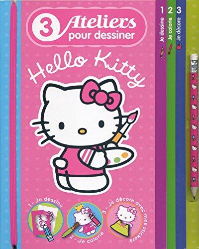 9782012269217: 3 ateliers pour dessiner Hello Kitty