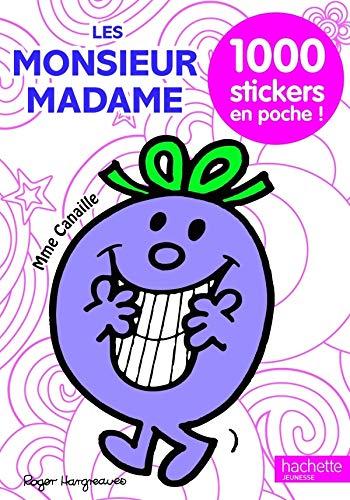 Les Monsieur Madame : 1000 stickers en poche !: Hargreaves, Roger