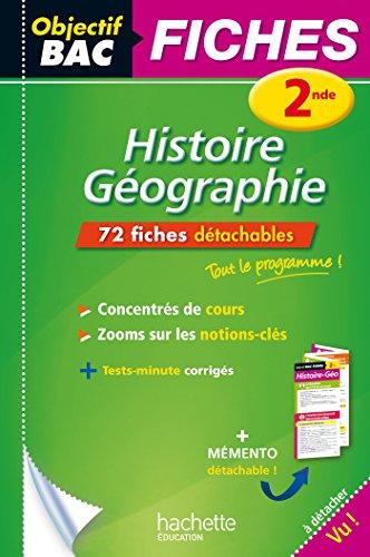 9782012273412: Objectif Bac Fiches Détachables Histoire-Geographie 2nde