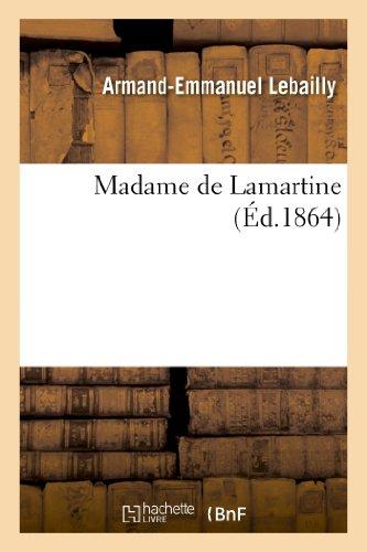 9782012392113: Madame de Lamartine (French Edition)