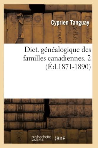 9782012538283: Dict. Genealogique Des Familles Canadiennes. 2 (Histoire) (French Edition)