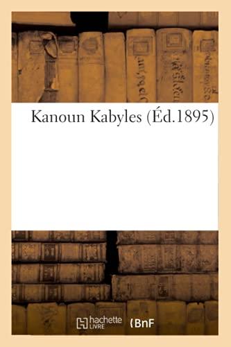 9782012558410: Kanoun Kabyles (Ed.1895) (Arts) (French Edition)