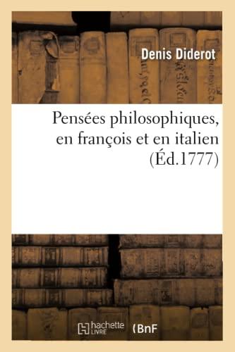 Pensées philosophiques, en françois et en italien: Adalbert Frout de