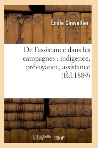 9782012646490: de L'Assistance Dans Les Campagnes: Indigence, Prevoyance, Assistance (Ed.1889) (Sciences Sociales) (French Edition)