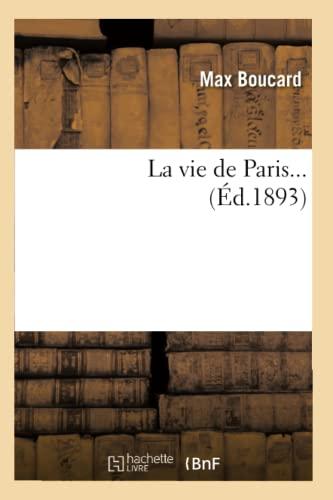 La Vie de Paris. (Ed.1893): Max Boucard