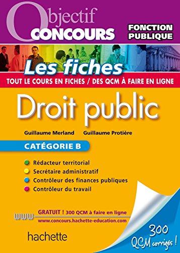 9782012706644: Objectif Concours Fiches Droit Public