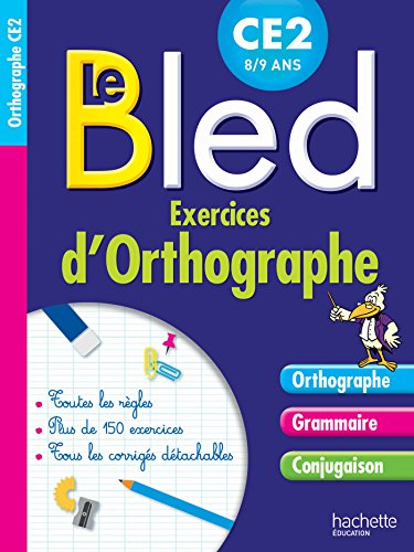 9782012707078: Cahier bled exercices d'orthographe CE2