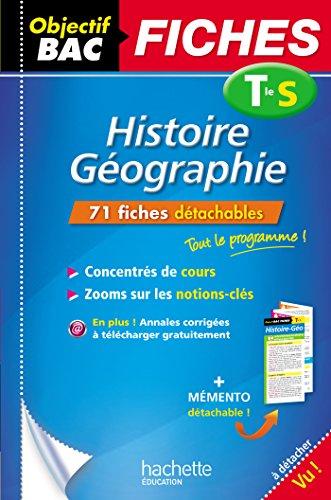 9782012707399: Objectif Bac Fiches Détachables Histoire-Géographie Term S
