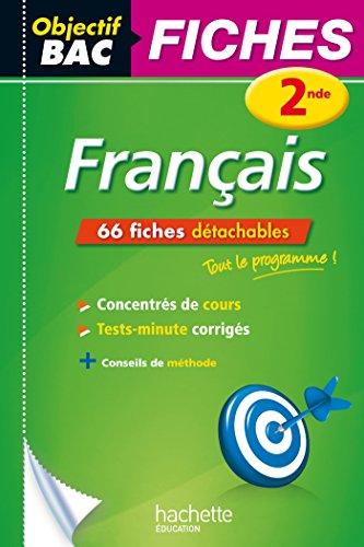 9782012707528: Objectif Bac Fiches Détachables Français 2nde