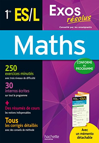 9782012708136: Exos Resolus Maths 1Res Es/L