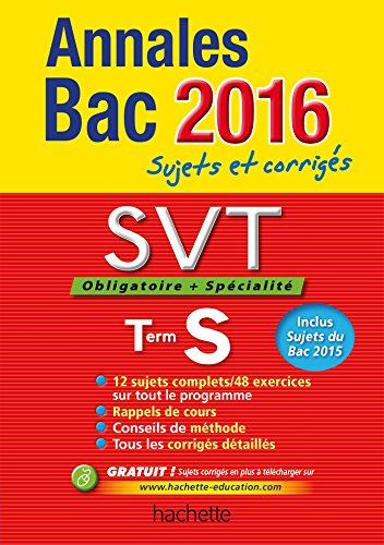 9782012708549: Annales 2016 Svt Ts