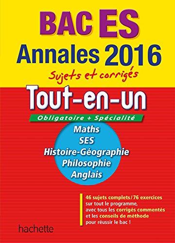 Annales 2016 Le Tout-En-Un Term Es: Joëlle Bicz Grassionot;
