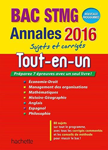 Annales 2016 Le Tout-En-Un Term Stmg: Jean-Pierre Broutin; Philippe