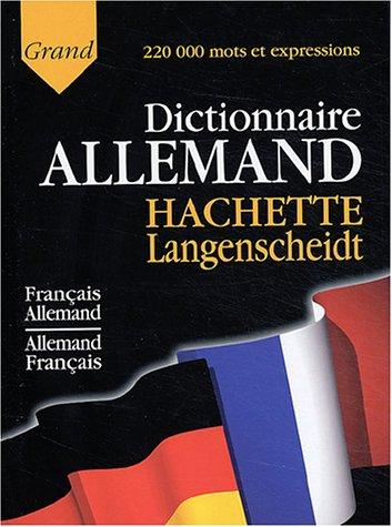 9782012805422: Grand dictionnaire allemand Hachette Langenscheidt : Français-Allemand, Allemand-Français