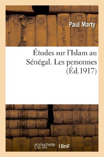 9782012830387: �tudes sur l'Islam au S�n�gal. Les personnes