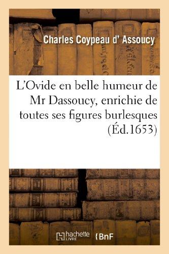 L'Ovide en belle humeur de Mr Dassoucy,: Charles Coypeau d'Assoucy