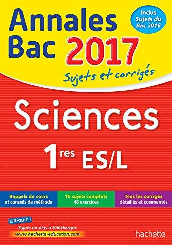 9782012903050: Annales Bac 2017 - Sciences 1ères L/ES (Annales du Bac)