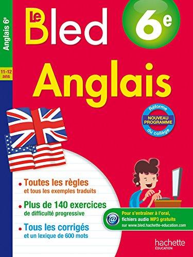9782012903654: Cahier Bled - Anglais 6E