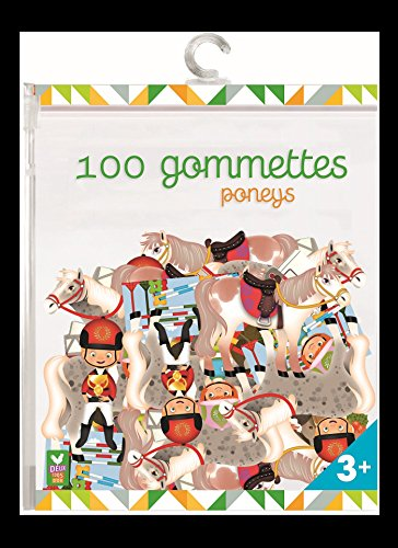 100 GOMMETTES PONEYS: COLLECTIF