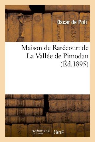 9782012922105: Maison de Rar�court de La Vall�e de Pimodan