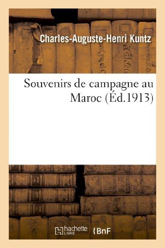 9782012930650: Souvenirs de campagne au Maroc