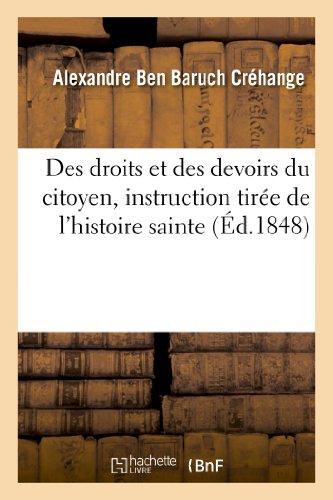 Des droits et des devoirs du citoyen,: Alexandre Créhange